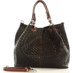 Skórzana torebka shopper czarna MEREDITH - 2