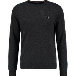 GANT CREW Sweter charcoale melange. Niebieskie swetry klasyczne męskie marki GANT. Za 419,00 zł.