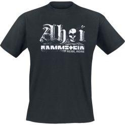 Rammstein Ahoi T-Shirt czarny. Niebieskie t-shirty męskie z nadrukiem marki Reserved, l, z okrągłym kołnierzem. Za 99,90 zł.