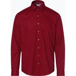 Calvin Klein - Koszula męska two ply – Bari, czerwony. Pomarańczowe koszule męskie marki Calvin Klein, l, z bawełny, z okrągłym kołnierzem. Za 199,95 zł.
