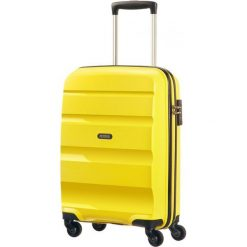 Walizki: American Tourister Walizka spinner BonAir Strict M – żółty (85A-06-002)