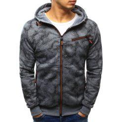 Bluzy męskie: Bluza męska rozpinana szara z kapturem (bx3423)