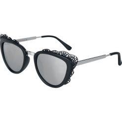 Okulary przeciwsłoneczne damskie: Voodoo Vixen Floral Trim Glasses Okulary przeciwsłoneczne czarny