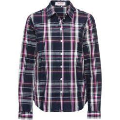 Bluzka w kratę bonprix ciemnoniebieski w kratę. Czarne bluzki damskie marki bonprix, z nadrukiem. Za 74,99 zł.