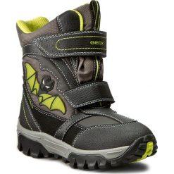 Buty zimowe chłopięce: Śniegowce GEOX – J Lt Himalaya B Abx A J64E5A 05411 C0802 Czarny/J.Zielony