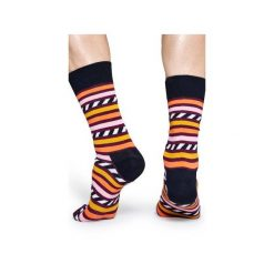 Skarpetki Happy Socks  SAS01-4000. Szare skarpetki męskie Happy Socks, z bawełny. Za 24,43 zł.