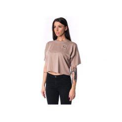 Damski panelled T-shirt 17. Brązowe t-shirty damskie Theg clothing, s, z haftami, z elastanu. Za 159,16 zł.