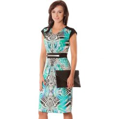 Sukienki hiszpanki: Sukienka w kolorze zielono-czarnym