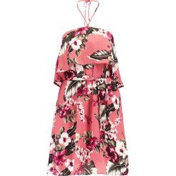 Sukienki: Missguided FLORAL HALTERNECK Sukienka letnia pink