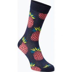 Happy Socks - Skarpety męskie, niebieski. Niebieskie skarpetki męskie Happy Socks, z bawełny. Za 39,95 zł.