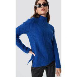 Rut&Circle Sweter z dzianiny Marielle - Blue. Zielone golfy damskie marki Rut&Circle, z dzianiny, z okrągłym kołnierzem. Za 161,95 zł.