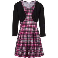 Sukienki dziewczęce: Sukienka + bolerko (2 części) bonprix jeżynowo-czarny