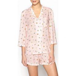 Piżamy damskie: Ozdobna piżama z szortami