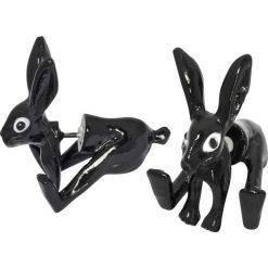 Kolczyki damskie: Wildkitten Quiet Rabbit Kolczyki – Earpin czarny