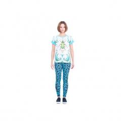Carabus T-shirt (Blue&Green). Niebieskie t-shirty damskie marki OKUAKU, xs, z nadrukiem, z bawełny, z klasycznym kołnierzykiem. Za 139,00 zł.