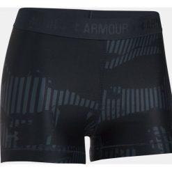 Spodenki sportowe męskie: Under Armour Spodenki damskie HeatGear Armour Printed Shorty czarne r. L (1302777-008)