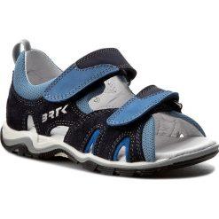 Sandały BARTEK - 16187-1PI Niebieski. Szare sandały męskie skórzane marki Blukids. W wyprzedaży za 129,00 zł.