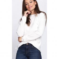 Biały Sweter Misconceiving. Czarne swetry klasyczne damskie marki Born2be, na jesień, l. Za 44,99 zł.