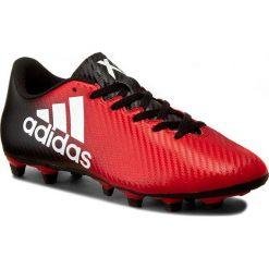 Buty adidas - X 16.4 FxG BB1036 Red/Ftwwht/Cblack. Czerwone buty skate męskie Adidas, ze skóry ekologicznej, do piłki nożnej. W wyprzedaży za 169,00 zł.