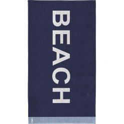 """Kąpielówki męskie: Ręcznik plażowy """"Beach"""" w kolorze granatowym"""