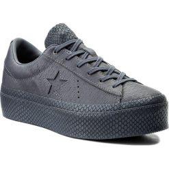 Sneakersy CONVERSE - One Star Platform Ox 559901C Light Carbon/Light Carbon. Niebieskie sneakersy damskie marki Converse, z materiału. W wyprzedaży za 359,00 zł.