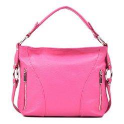 Torebki klasyczne damskie: Skórzana torebka w kolorze fuksji – (S)25 x (W)32 x (G)8 cm