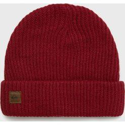 Quiksilver - Czapka. Brązowe czapki zimowe męskie Quiksilver, na zimę, z dzianiny. Za 129,90 zł.