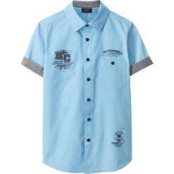 Koszula z krótkim rękawem bonprix jasnoniebieski. Zielone bluzki dziewczęce w paski marki bonprix, z kopertowym dekoltem, kopertowe. Za 54,99 zł.