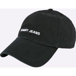 Tommy Jeans - Czapka. Czarne czapki z daszkiem damskie Tommy Jeans, z bawełny. Za 119,90 zł.