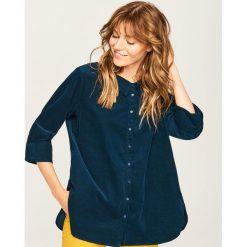 Sztruksowa koszula - Niebieski. Niebieskie koszule damskie marki Reserved, ze sztruksu. W wyprzedaży za 79,99 zł.