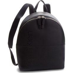 Plecak CALVIN KLEIN - Dual Backpack K60K604477 001. Czarne plecaki damskie marki Calvin Klein, ze skóry ekologicznej, eleganckie. Za 649,00 zł.