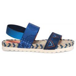 Desigual Sandały Damskie Formentera Denim B 36 Niebieski. Szare sandały damskie marki Desigual, l, z tkaniny, casualowe, z długim rękawem. W wyprzedaży za 189,00 zł.