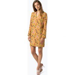 Apriori - Sukienka damska – Coordinates, żółty. Żółte sukienki na komunię marki Apriori, w kwiaty, z szyfonu, z falbankami. Za 299,95 zł.
