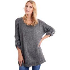 Sweter - 115-2700 GRSC. Szare swetry klasyczne damskie marki Unisono, uniwersalny, z dzianiny. Za 59,00 zł.