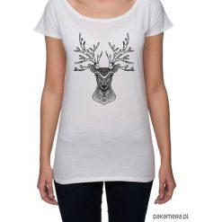 Koszulka damska z jeleniem. Szare bluzki damskie N/A, z nadrukiem. Za 79,00 zł.