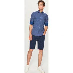 Koszula w drobny wzór - Granatowy. Niebieskie koszule męskie marki Reserved, l. Za 89,99 zł.