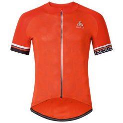 Odlo Koszulka męska Stand-up collar s/s full zip BREATHE pomarańczowa r. XXL (411172). Brązowe koszulki sportowe męskie marki Odlo, m. Za 299,95 zł.