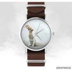 Zegarek - Zając - brązowy, nato. Brązowe zegarki damskie Pakamera. Za 129,00 zł.