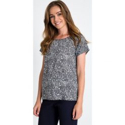 Bluzki damskie: Biało-czarna bluzka ze wzorem QUIOSQUE