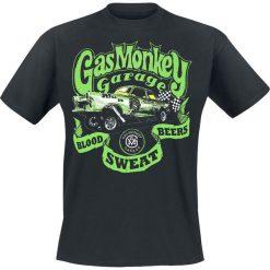 T-shirty męskie z nadrukiem: Gas Monkey Garage Gasser T-Shirt czarny