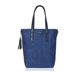 DAMSKA TOREBKA MILTON  GRANATOWA AALIYAH. Niebieskie torebki klasyczne damskie Milton, w paski, ze skóry ekologicznej, zdobione. Za 99,00 zł.