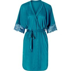 Szlafrok kimono bonprix niebieskozielony. Niebieskie szlafroki kimona damskie bonprix, z satyny. Za 89,99 zł.