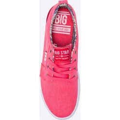 Big Star - Tenisówki. Różowe tenisówki męskie BIG STAR, z materiału, na sznurówki. W wyprzedaży za 59,90 zł.