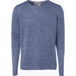 Swetry męskie: DENIM by Nils Sundström - Męski sweter z lnu, niebieski