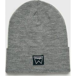 Wrangler - Czapka. Szare czapki zimowe męskie Wrangler, na zimę, z dzianiny. Za 79,90 zł.