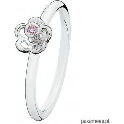 Obrączki: Srebrna obrączka z cyrkonią Spinning Jewelry