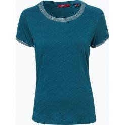 S.Oliver Casual - T-shirt damski, niebieski. Niebieskie t-shirty damskie s.Oliver Casual, s. Za 49,95 zł.