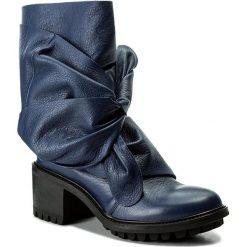 Kozaki EVA MINGE - Adalina 2A 17MJ1372187EF 107. Niebieskie buty zimowe damskie Eva Minge, ze skóry, na obcasie. W wyprzedaży za 289,00 zł.