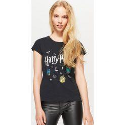 Bluzki, topy, tuniki: Koszulka harry potter - Czarny