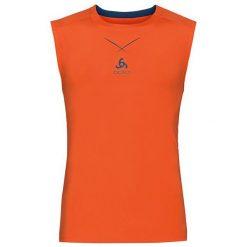 Odlo Koszulka Ceramicool Singlet crew neck rozmiar L pomarańczowy. Brązowe t-shirty męskie Odlo, l. Za 119,95 zł.